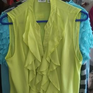 3 FOR $10 CATOS SIZE LARGE NEON GREEN SLEEVELESS